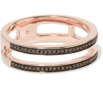 Skinny Double Band rose gold vermeil diamond ring