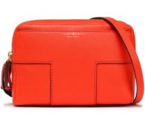 Textured-leather Shoulder Bag Bright Orange Size --