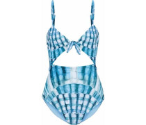Printed cutout swimsuit