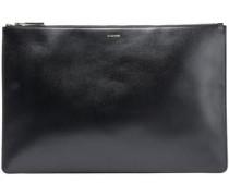 Leather Clutch Black Size --