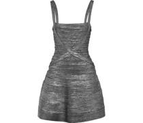 Faith Metallic Bandage Mini Dress Gunmetal
