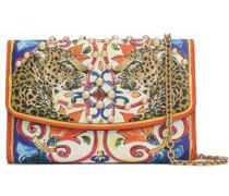 Studded Printed Textured-leather Shoulder Bag Multicolor Size --