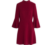 Flared crepe mini dress