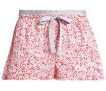 Floral-print cotton-poplin pajama shorts