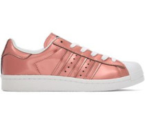 Superstar Perforated Metallic Patent-leather Sneakers Copper