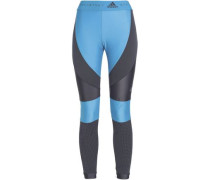 Paneled Stretch Leggings Light Blue