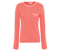 Woman Lison Silk And Cotton-blend Sweater Coral