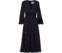 Printed Silk-georgette Midi Dress Black