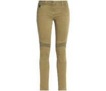 Stretch-cotton Skinny Pants Army Green  8