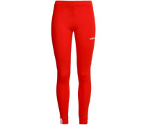 Stretch-cotton Jersey Leggings Tomato Red