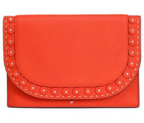 Vita Madison Wagner Way studded textured-leather clutch