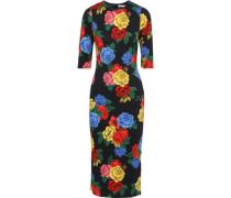 Woman Delora Floral-print Stretch-jersey Midi Dress Black