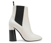 Drum Leather Ankle Boots Off-white