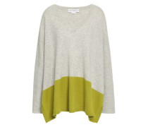 Two-tone Cashmere Top Sage Green  /M