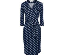 New Julian Floral-print Silk-jersey Wrap Dress Azure Size 0