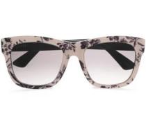 D-frame Floral-print Acetate Sunglasses Ivory Size --