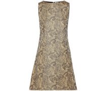 Clyde cotton-blend brocade mini dress