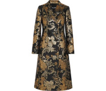 Double-breasted brocade coat