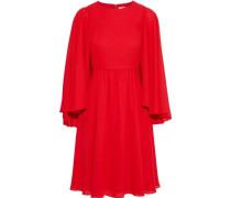 Draped Crepe Dress Red