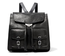 Woman Field Textured-leather Backpack Black
