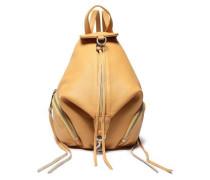 Pebbled-leather Backpack Saffron Size --