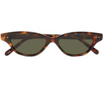 Woman Cat-eye Tortoiseshell Acetate Sunglasses Light Brown
