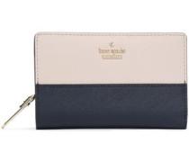 Metallic Leather Wallet Navy Size --
