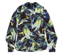 Fae printed silk crepe de chine shirt