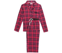 Striped flannel pajama set