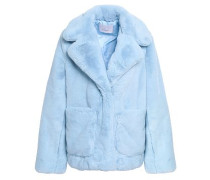 Faux Fur Coat Light Blue