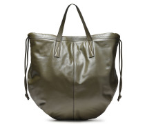 Woman Leather Tote Army Green