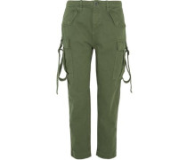 Hopper cotton-twill tapered pants