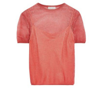 Open-knit Top Coral