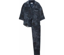 Tie-day stretch-modal jersey pajama set
