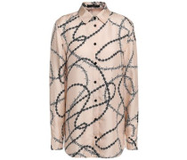 Silk Satin-twill Shirt Blush