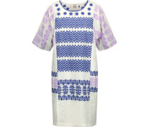 Luz embroidered cotton-broadcloth mini dress