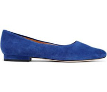 Hailey Suede Ballet Flats Royal Blue