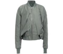 Draped Shell Bomber Jacket Grey Green