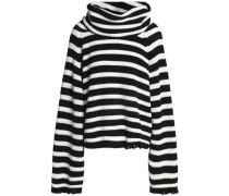 Alexis striped ribbed cotton turtleneck swearer
