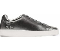 RB1 metallic textured-leather sneakers