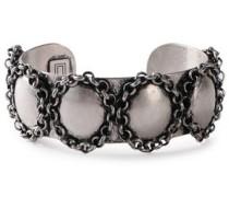 Burnished Silver-tone Cuff Silver Size --