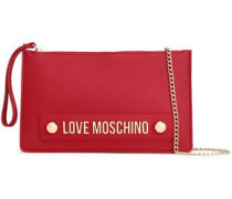 Embellished Faux Leather Clutch Claret Size --