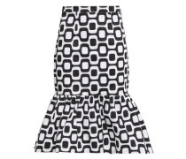 Fluted Stretch-cotton Skirt White