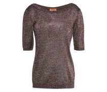 Metallic Stretch-knit Top Bronze