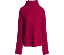 Ribbed wool and cashmere-blend turtleneck sweater