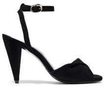 Fairy Twisted Suede Sandals Black