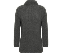 Ribbed Cashmere Turtleneck Sweater Anthracite
