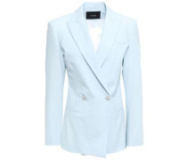 Double-breasted Woven Blazer Sky Blue