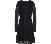 Fluted guipure lace mini dress