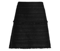 Metallic Jacquard Mini Skirt Black